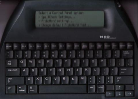 Blurry scan of AlphaSmart Neo