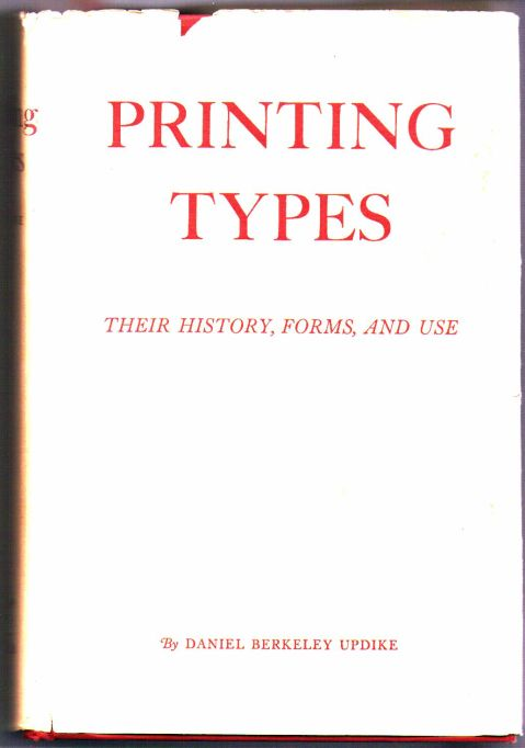 Printing Types dust jacket
