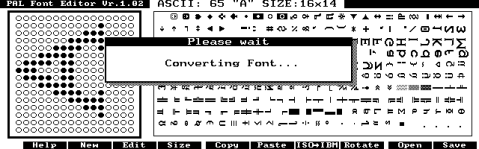Importing a font into PFE.