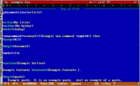 TDE running inside DOSBox.