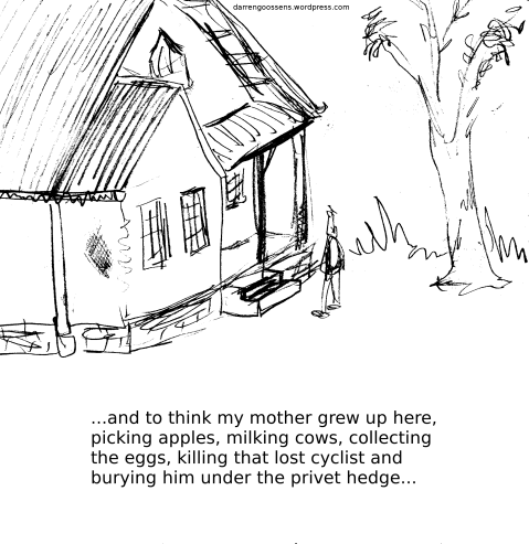 Under the hedge.  Webcomic.