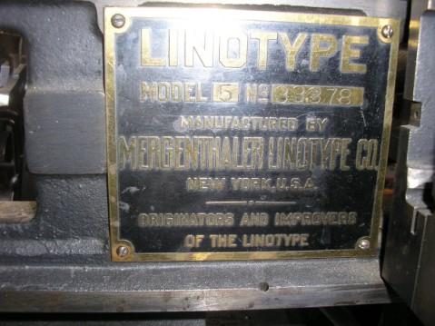 The Chiltern Linotype 1.