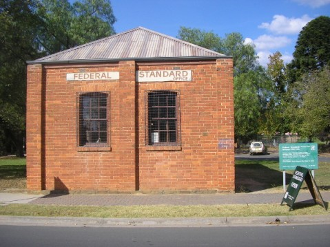 The Federal Standard Printing Works, in Chiltern, Victoria, Australia.