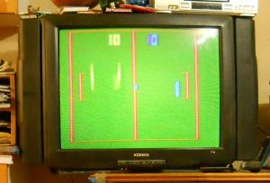My old CRT TV, showing the latest in video game technology.