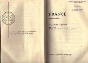 Title page of the book as it says it is. France.
