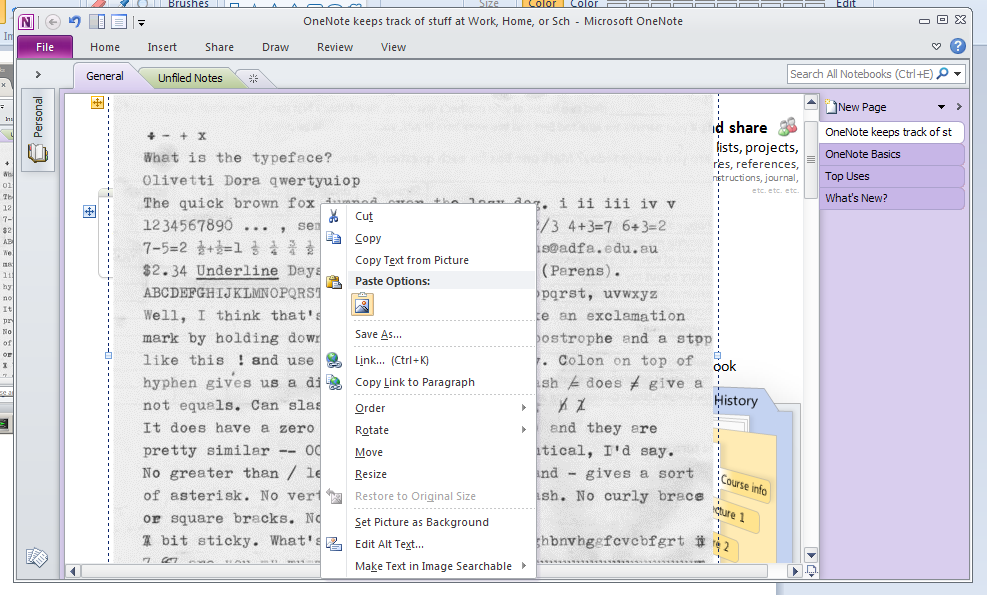 OCR via PDF and Acrobat Professional, and using OneNote | Darren