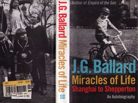 The cover of <i>Miracles of Life<.i> by J. G. Ballard.