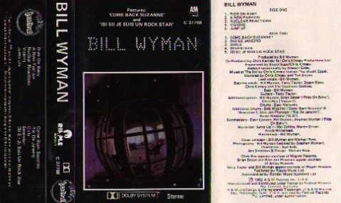 Cassette tape inlay for <i>Bill Wyman</i> by William Perks.