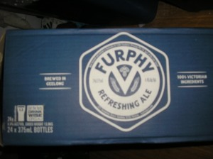 The carton from Furphy refreshing ale.
