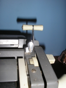 The paper injector lever on the SG3.