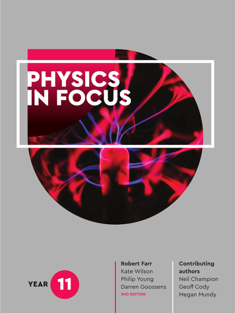 The cover of <I>Physics in Focus</I> for year 11 students. My first textbook!