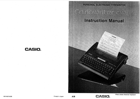 Image of front page of manual, showing no large white space bands at top and bottom.