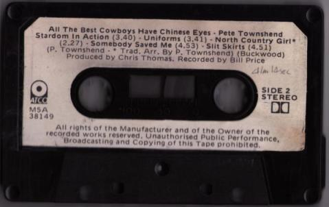 Scan of the cassette itself.