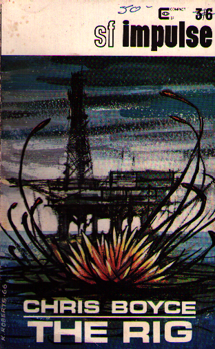 Scan of the cover showing a giant lily attacking an oil well.