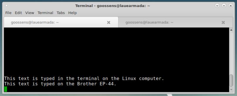 screenshot of a terminal session