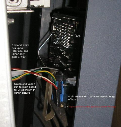 Photo showing the PCB in place in the case.