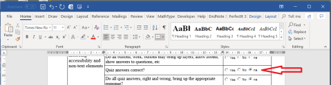 Screen shot showing the 'na' button checked.