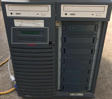 Photo of the front of the AlphaServer 1200.