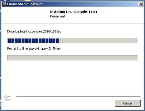 Screen shot of installer