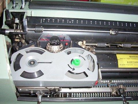 Photo of the print head