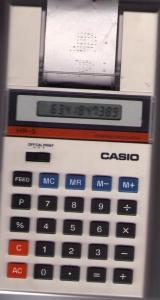 scan of the calculator showing its front