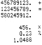 shows an example calculation or two