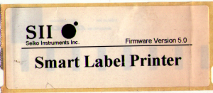 scan of label
