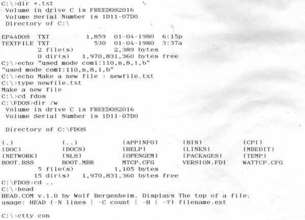 scan of printout
