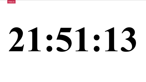 the time at the time -- 21:51:13