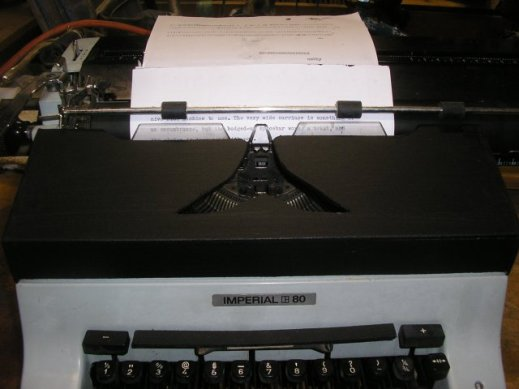 front view of the machine with ribbon cover