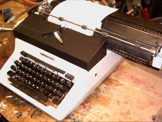 it's just a photo of an old typewriter and you're really not missing out on anything if you asre relying on alt text instead of seeing the image, I can tell you